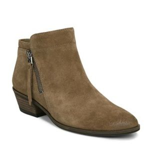 Sam Edelman Packer Booties Taupe Suede 8.5 M